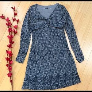 ATHLETA Grey Patterned Midi Dress -XS